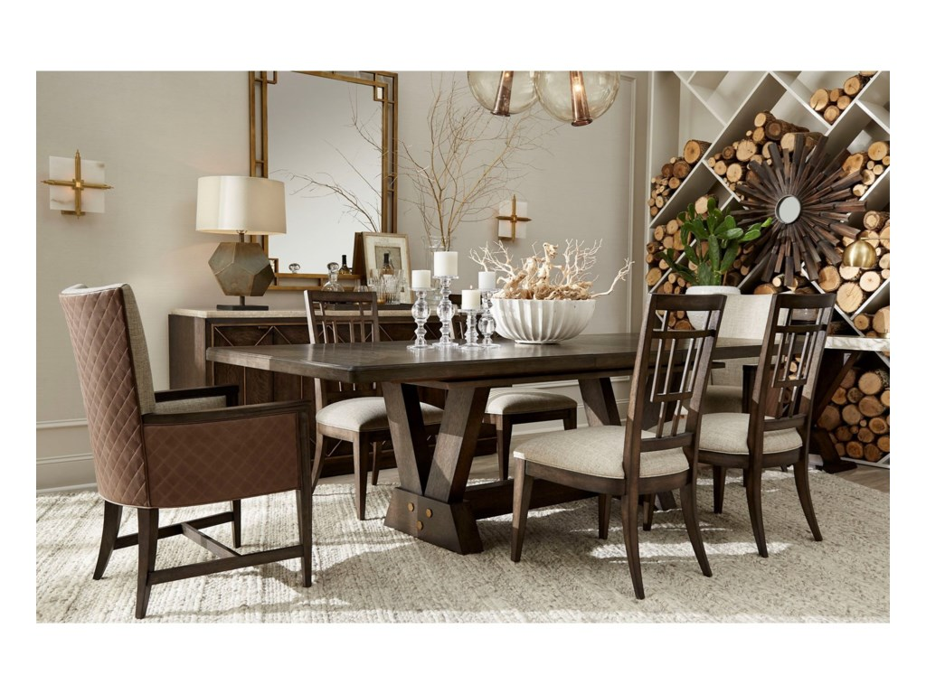 The Great Outdoors WoodWright9-Piece Oak Park Dining Table Set
