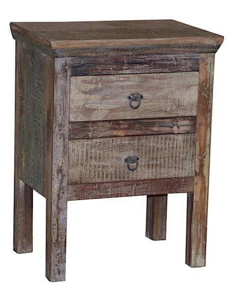 Artage International Rustic 2 Drawer Cabinet