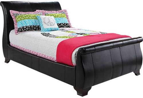 Artage International Miranda Twin Upholstered Sleigh Bed