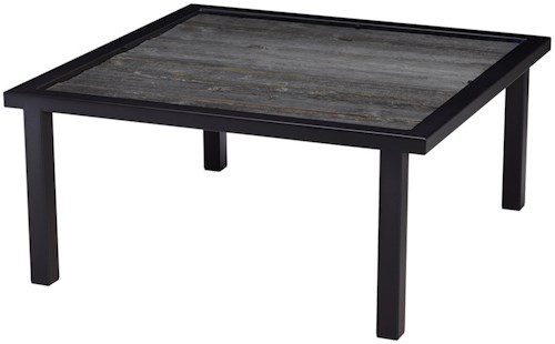 Artage International Barnboard Square Cocktail Table with Rustic Reclaimed Barnboard Top