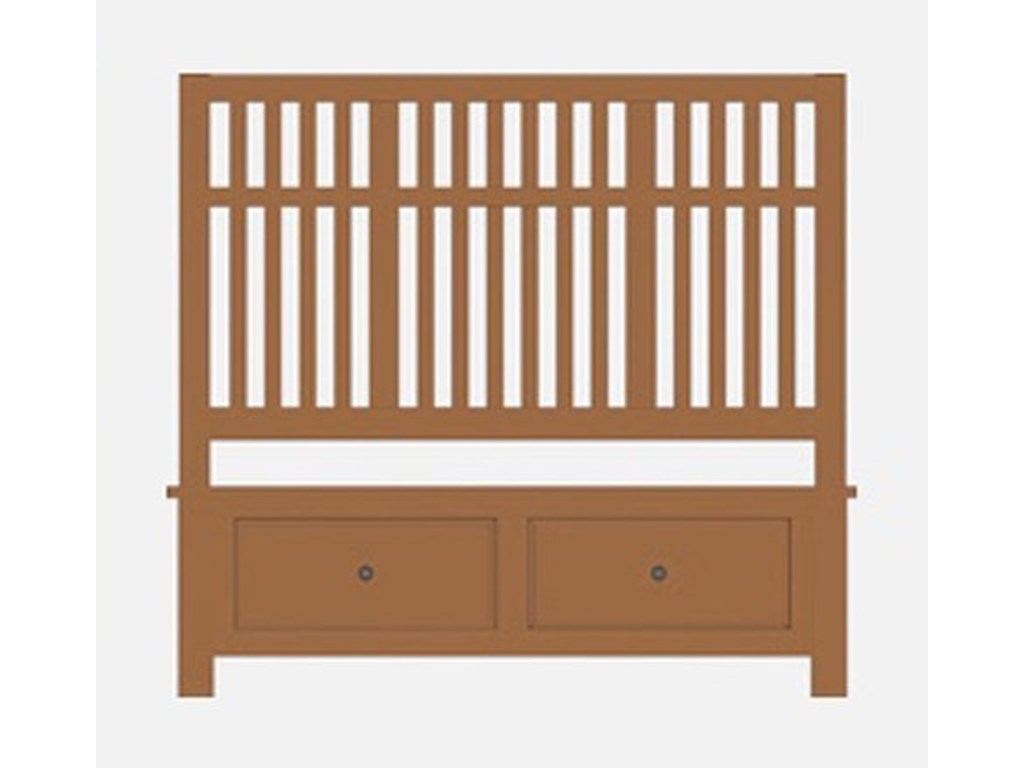 Artisan & Post Artisan ChoicesKing Craftsman Slat Storage Bed