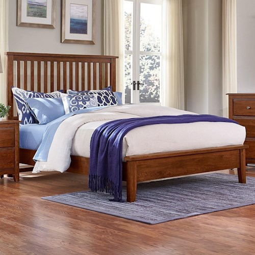 Artisan & Post Artisan Choices King Slat Bed with Low Profile Footboard