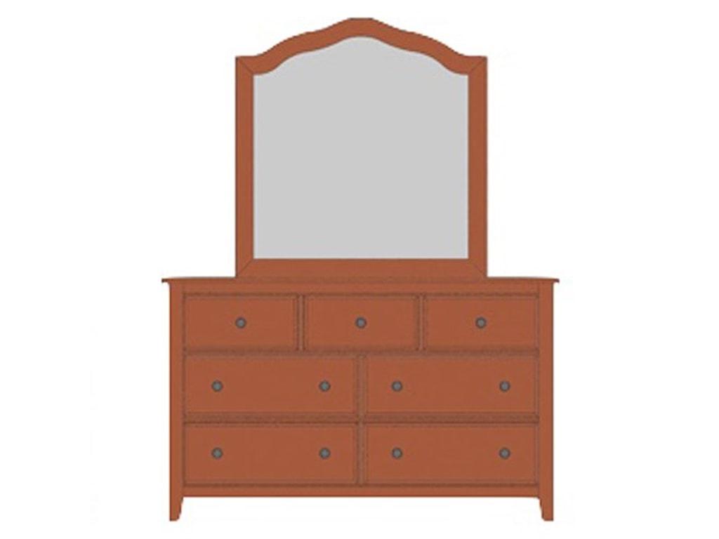 Artisan & Post Artisan ChoicesLoft Triple Dresser & Tall Arched Mirror