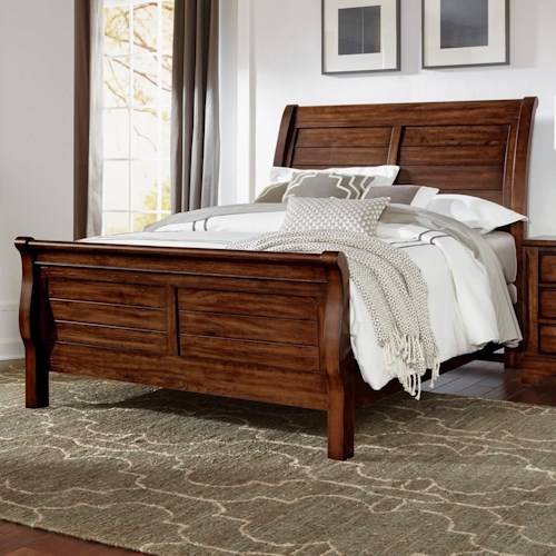 Artisan & Post Artisan Choices Solid Wood Queen Sleigh Bed