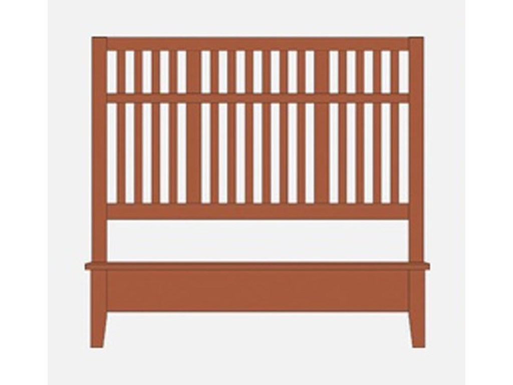 Artisan & Post Artisan ChoicesQueen Craftsman Slat Bed w/ Low Ftbd