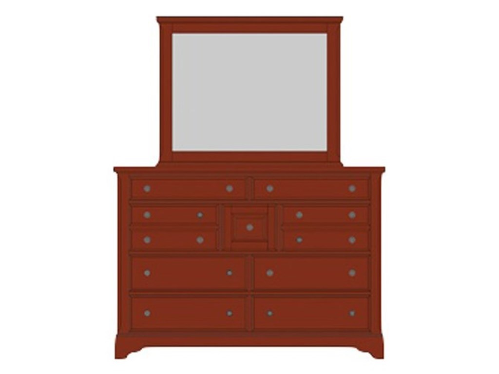 Artisan & Post Artisan ChoicesVilla Triple Dresser & Landscape Mirror