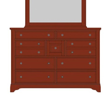 Post Choicesvilla Triple Dresser 9 Drawers
