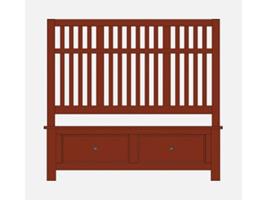 Artisan & Post Artisan ChoicesQueen Craftsman Slat Storage Bed
