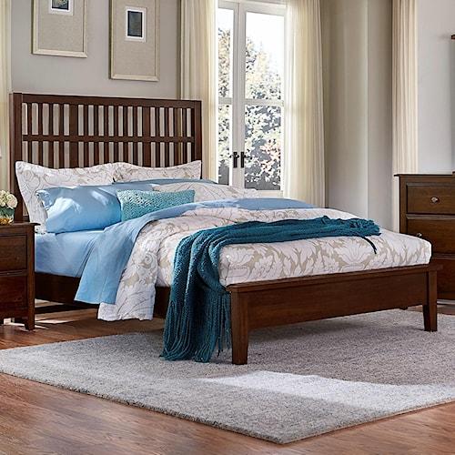 Artisan & Post Artisan Choices King Craftsman Slat Bed w/ Low Profile Footboard