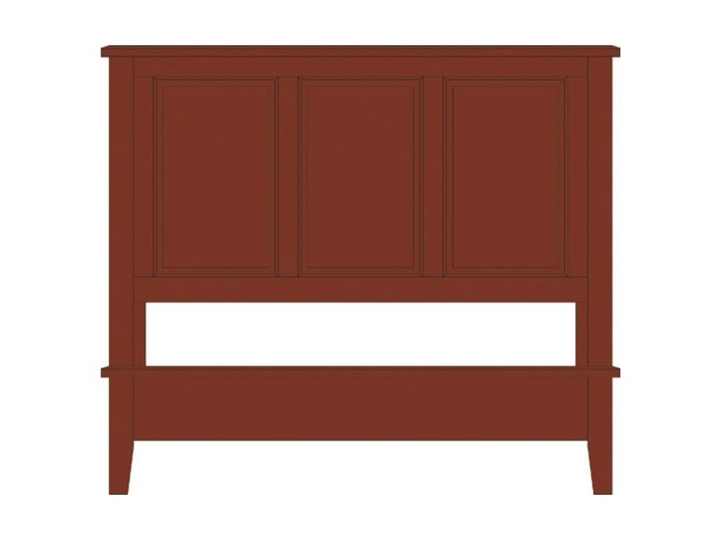 Artisan & Post Artisan ChoicesQueen Panel Bed with Low Profile Footboard