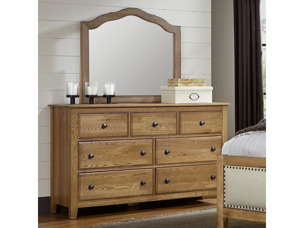 Artisan & Post Artisan ChoicesLoft Triple Dresser & Tall Arched Mirror