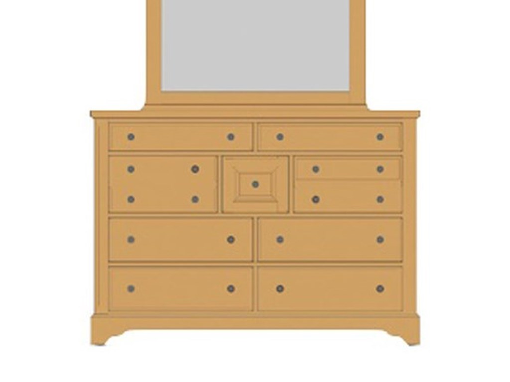 Artisan & Post Artisan ChoicesVilla Triple Dresser - 9 Drawers