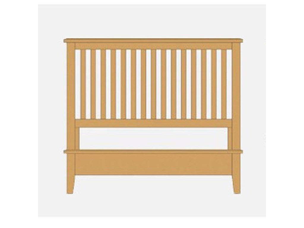 Artisan & Post Artisan ChoicesQueen Slat Bed with Low Profile Footboard