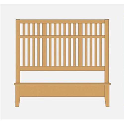 Artisan & Post Artisan Choices King Craftsman Slat Bed w/ Low Profile Footboard