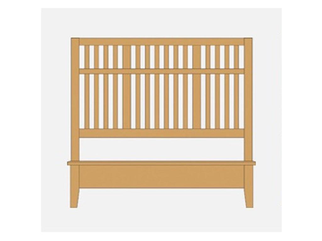 Artisan & Post Artisan ChoicesKing Craftsman Slat Bed w/ Low Ftbd