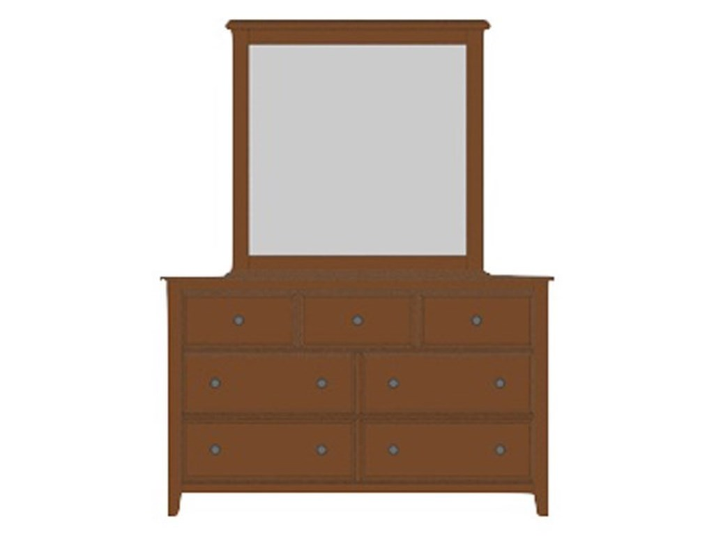 Artisan & Post Artisan ChoicesLoft Triple Dresser & Tall Landscape Mirror