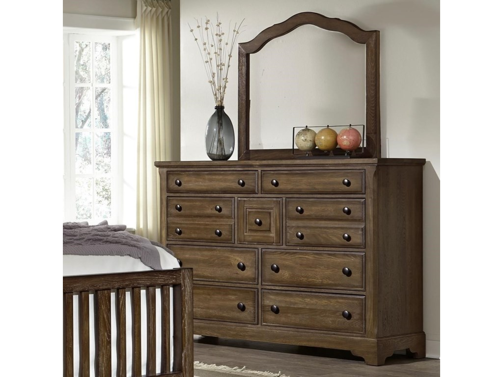 Artisan & Post Artisan ChoicesVilla Triple Dresser & Arched Mirror