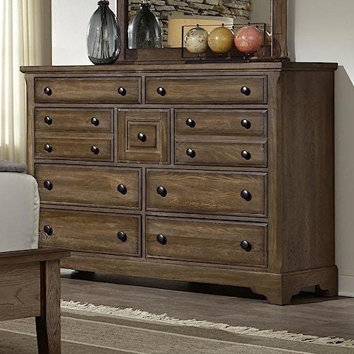 Artisan & Post Artisan Choices Solid Wood Villa Triple Dresser - 9 Drawers