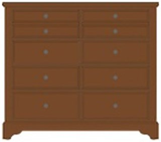 Post Choices Solid Wood Villa Media Dresser 8 Drawers