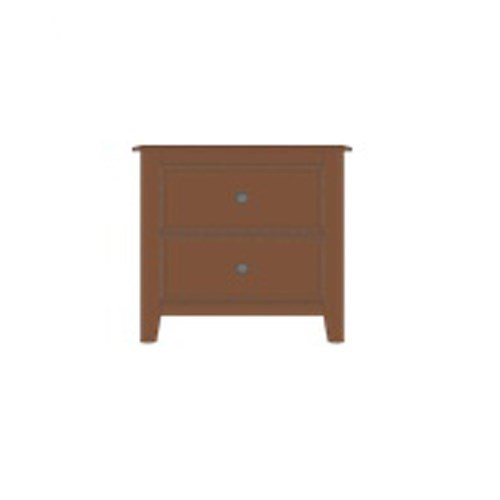 Artisan & Post Artisan Choices Solid Wood Loft Night Stand - 2 Drawers