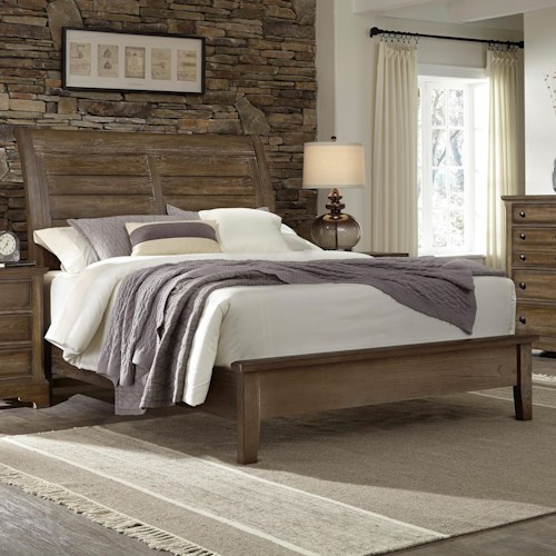 Artisan & Post Artisan Choices King Sleigh Bed with Low Profile Footboard