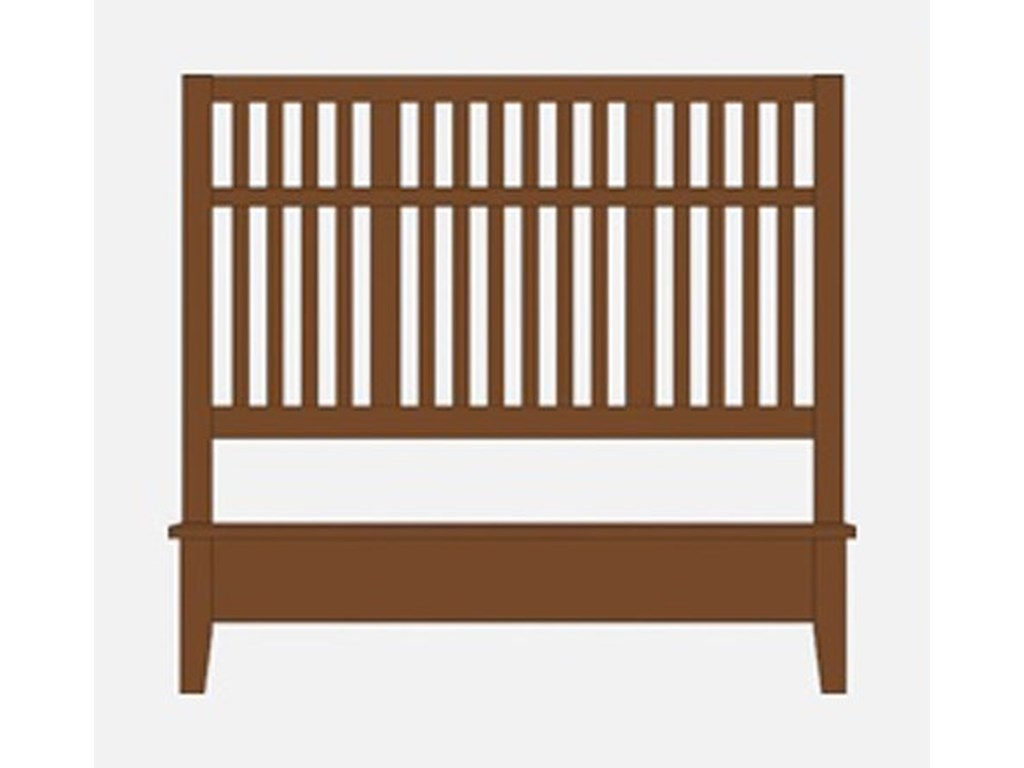 Artisan & Post Artisan ChoicesQueen Craftsman Slat Bed w/ Low Ftbd