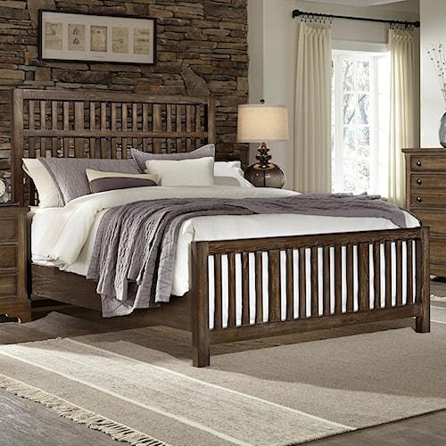Artisan & Post Artisan Choices Queen Craftsman Slat Bed