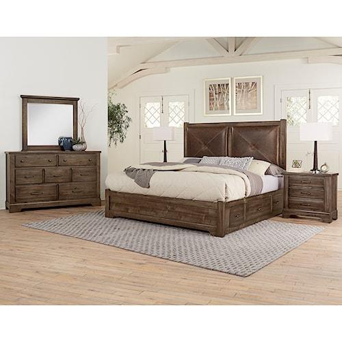 Artisan & Post Cool Rustic Queen Bedroom Group