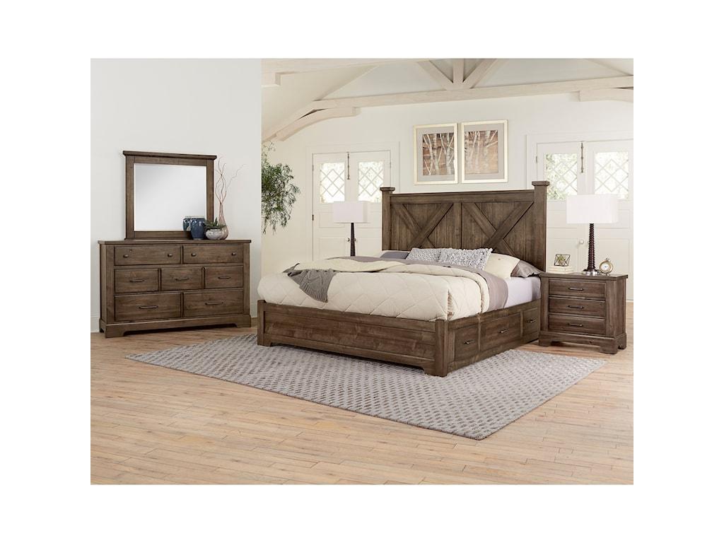 Artisan & Post Cool RusticQueen Bedroom Group