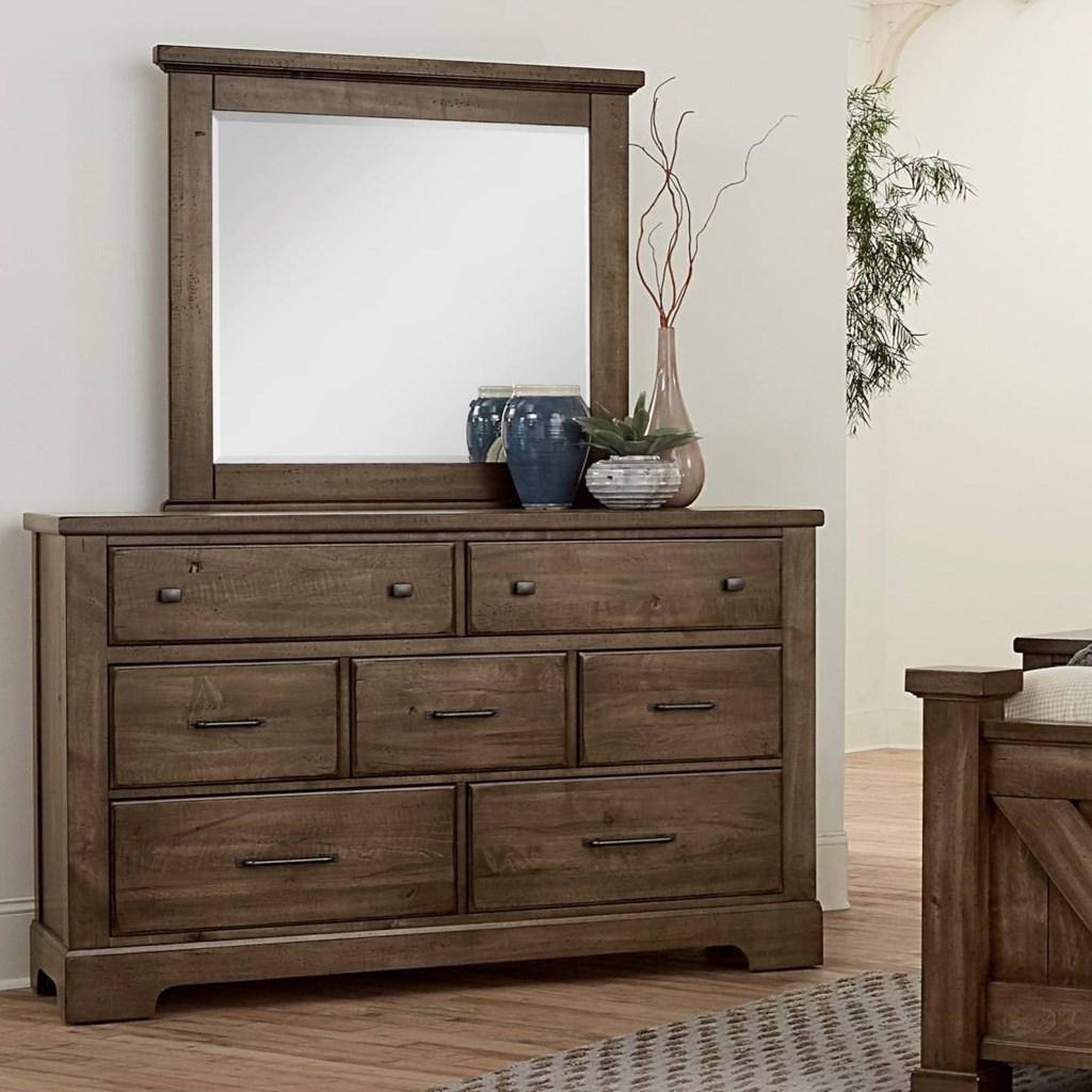 Artisan Post Cool Rustic7 Drawer Dresser And Mirror