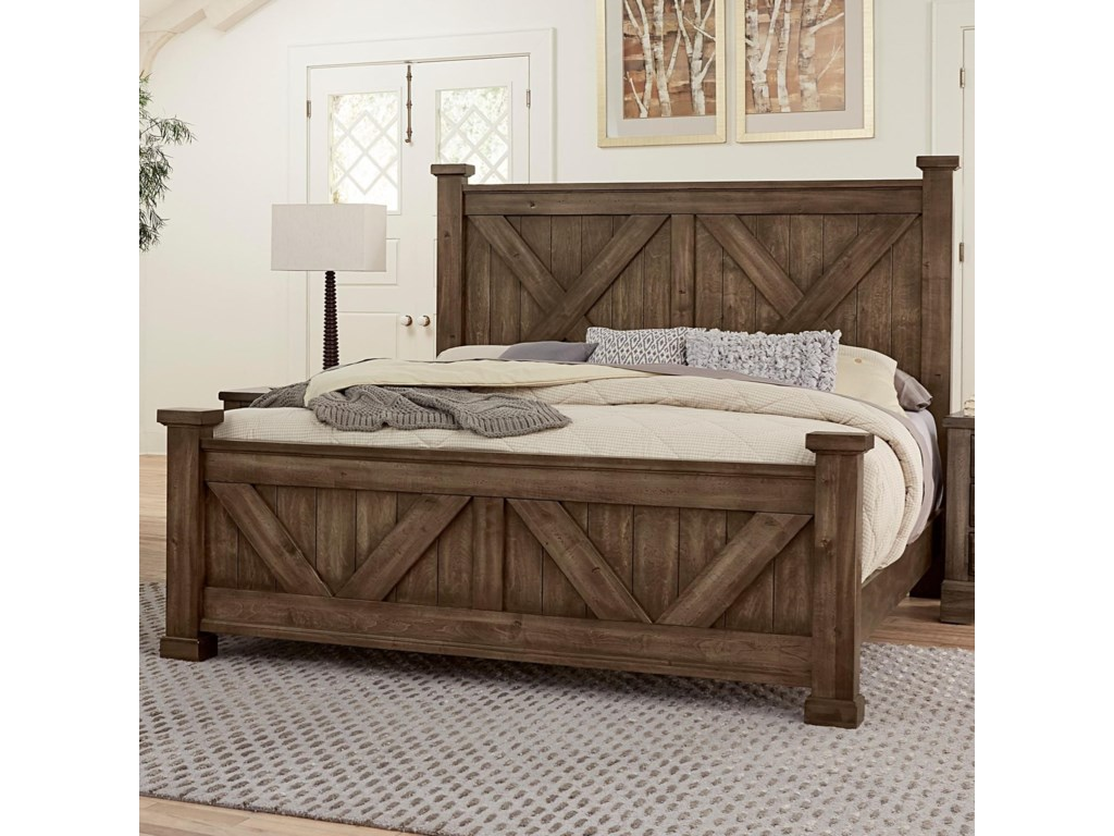 Artisan & Post Cool RusticQueen Barndoor X Bed