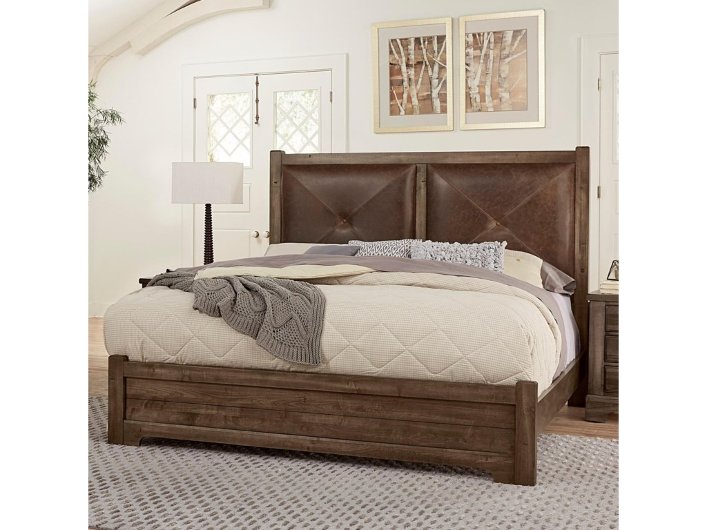 Artisan & Post Cool RusticKing Leather Headboard Bed