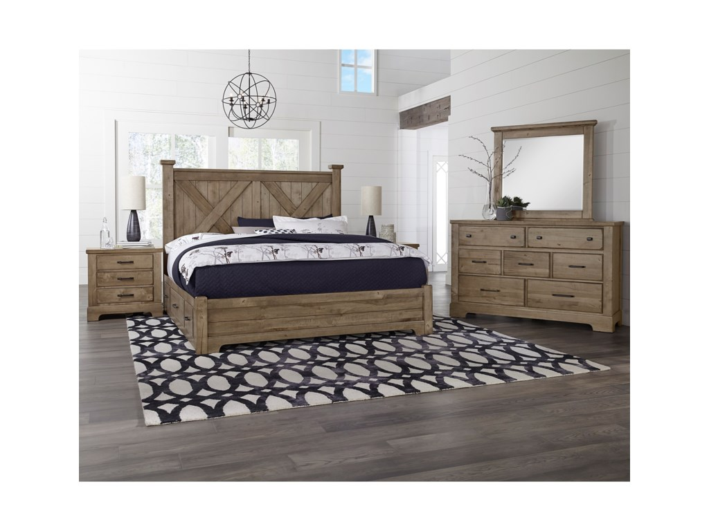 Artisan & Post Cool RusticQueen Bedroom Group