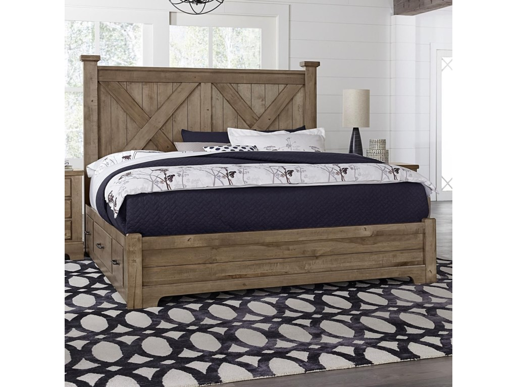 Artisan & Post Cool RusticQueen X Bed with Side Storage