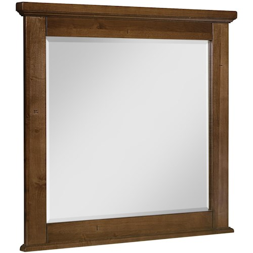 Artisan & Post Cool Rustic Landscape Mirror with Solid Wood Frame and Beveled Glass