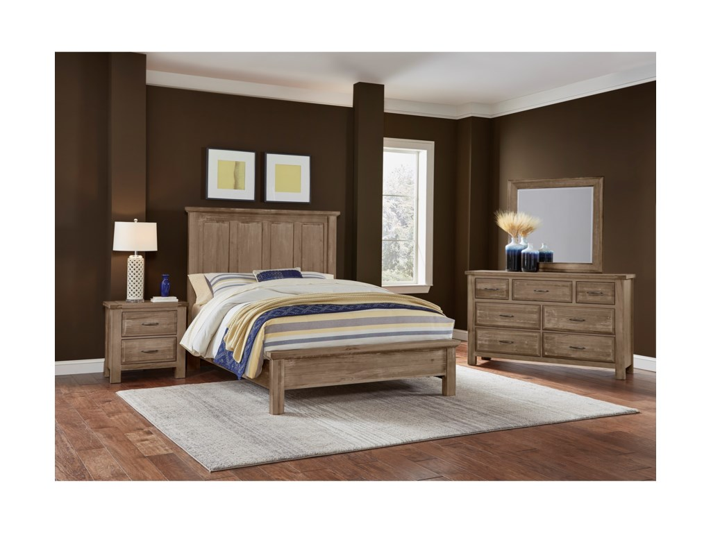 Queen Bed Shown.