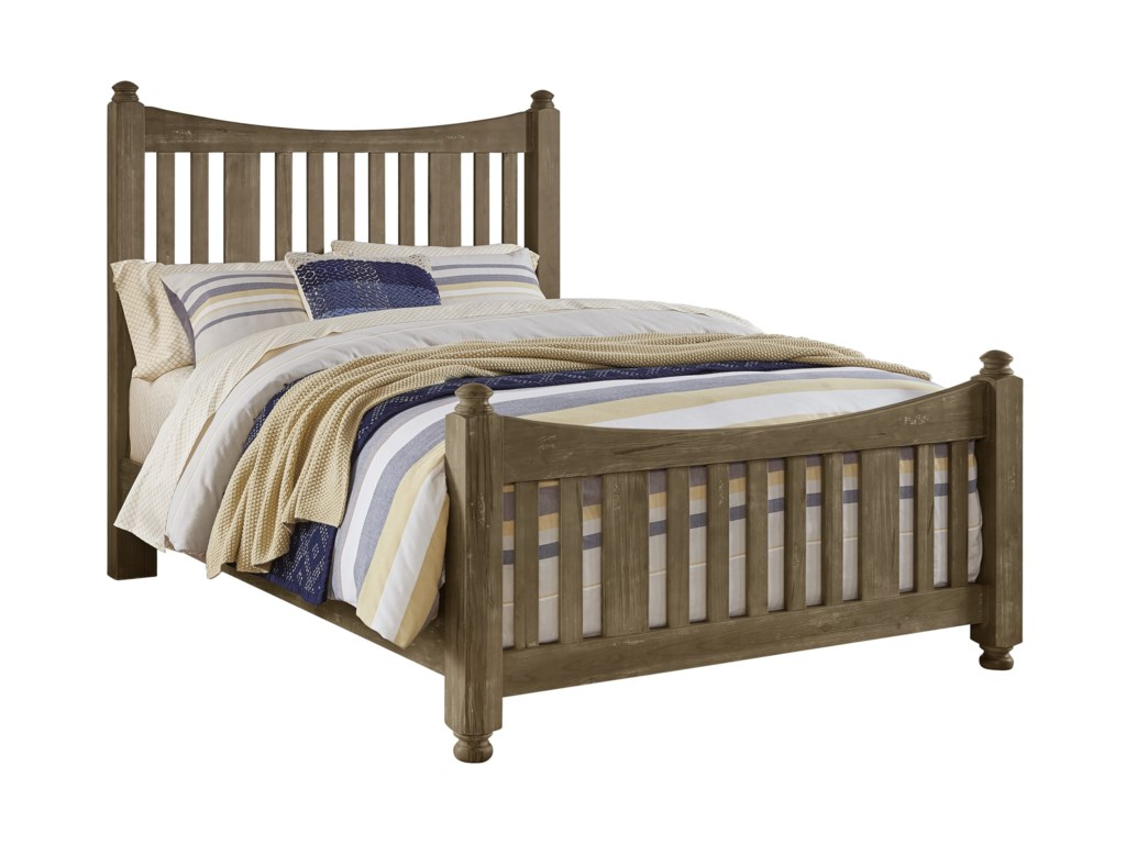 Artisan & Post Maple Road Solid Wood King Slat Poster Bed | Darvin ...