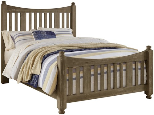 Artisan & Post Maple Road Solid Wood Queen Slat Poster Bed
