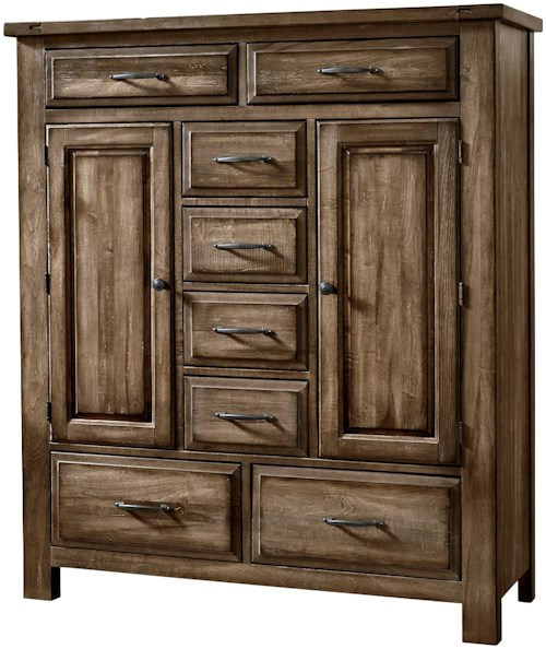 Artisan & Post Maple Road Solid Wood Sweater Chest - 8 Drawers 2 Doors