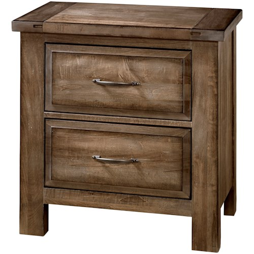 Artisan & Post Maple Road Solid Wood Maple Night Stand - 2 Drawers