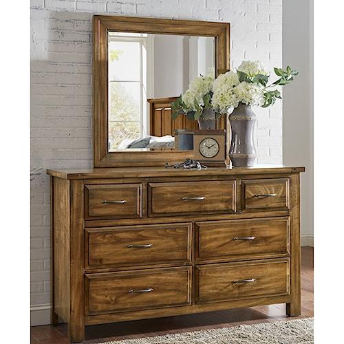Artisan & Post Maple Road Solid Wood Dresser & Mirror