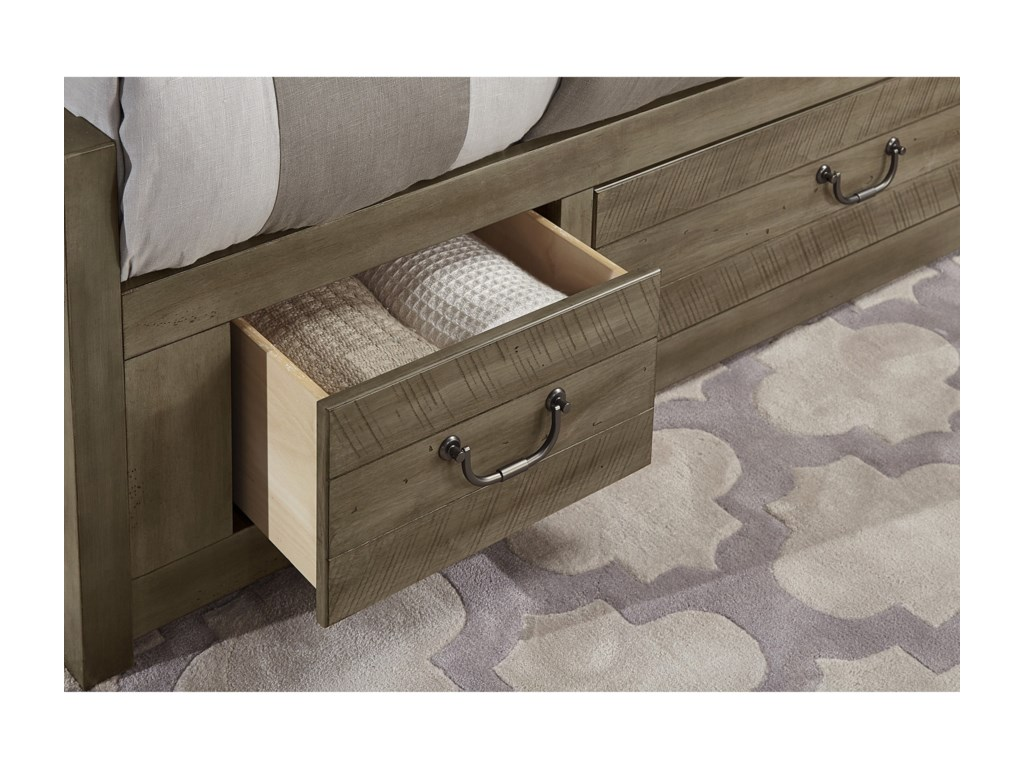 Virginia House SedgwickQueen Panel 6 Drawer Storage Bed