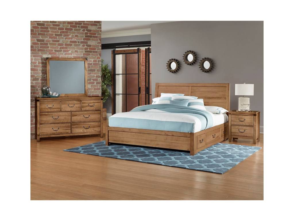 Artisan & Post SedgwickKing Panel 3 Drawer Storage Bed