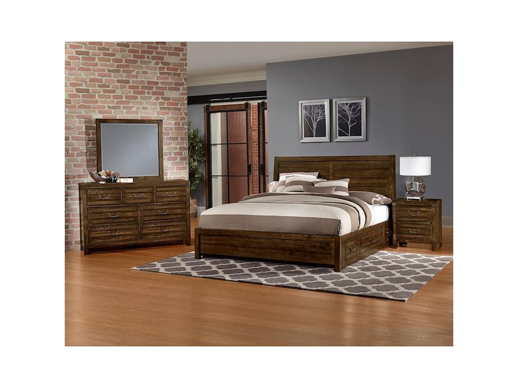 Artisan Post By Vaughan Bassett Sedgwick Queen Bedroom Group - Vaughan bassett bedroom furniture reviews