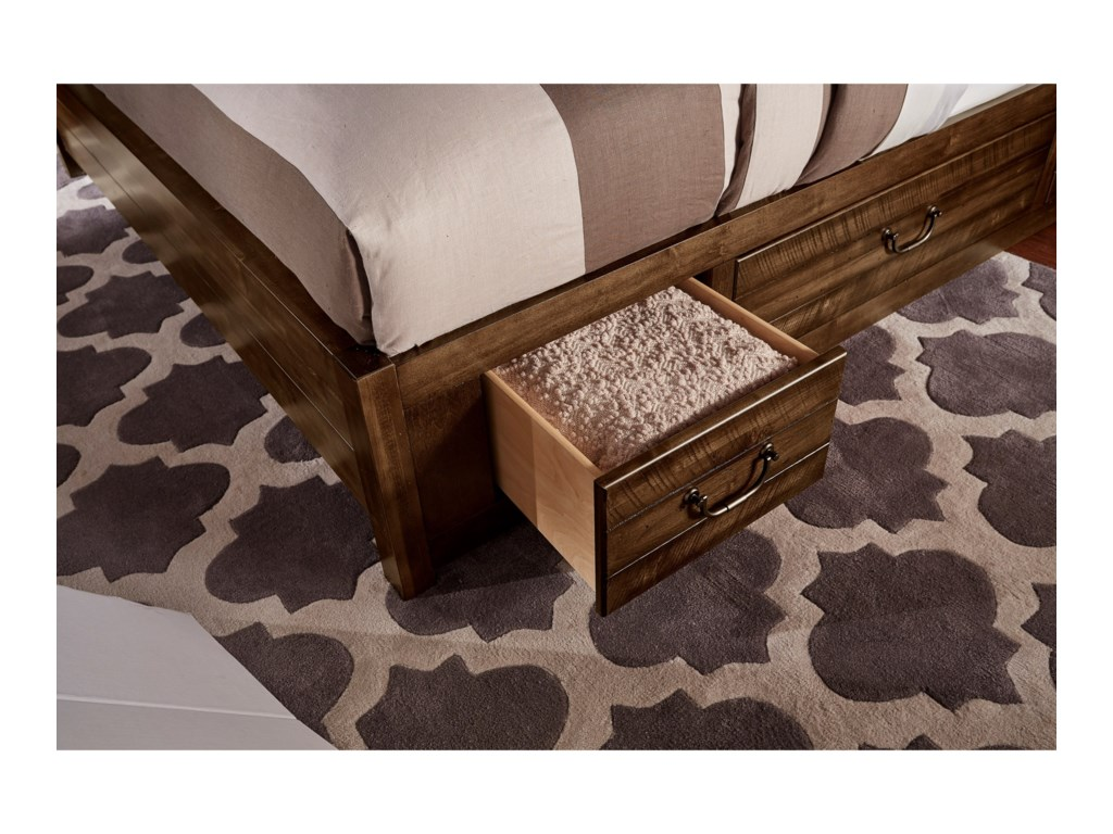 Artisan & Post SedgwickQueen Panel 3 Drawer Storage Bed