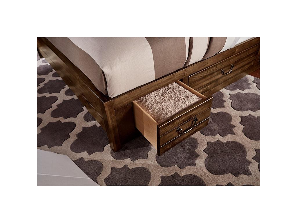 Artisan & Post SedgwickQueen Panel 6 Drawer Storage Bed