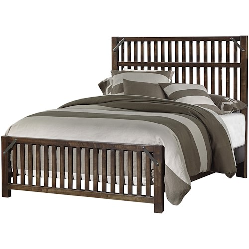 Artisan & Post Sedgwick Rustic King Slat Bed with Metal Accents