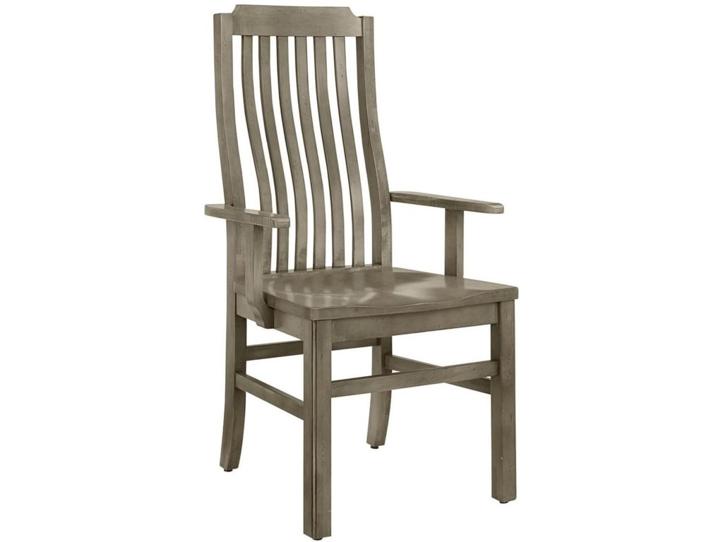 Simply Dining Maple Vertical Slat Arm Chair By Artisan Post
