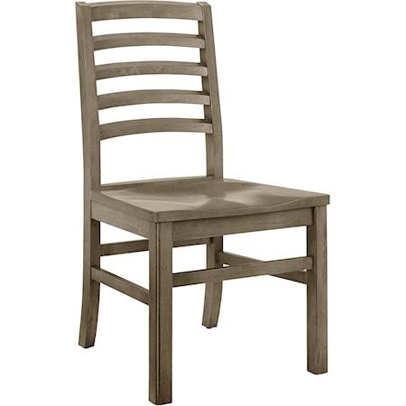 Horizontal Slat Side Chair