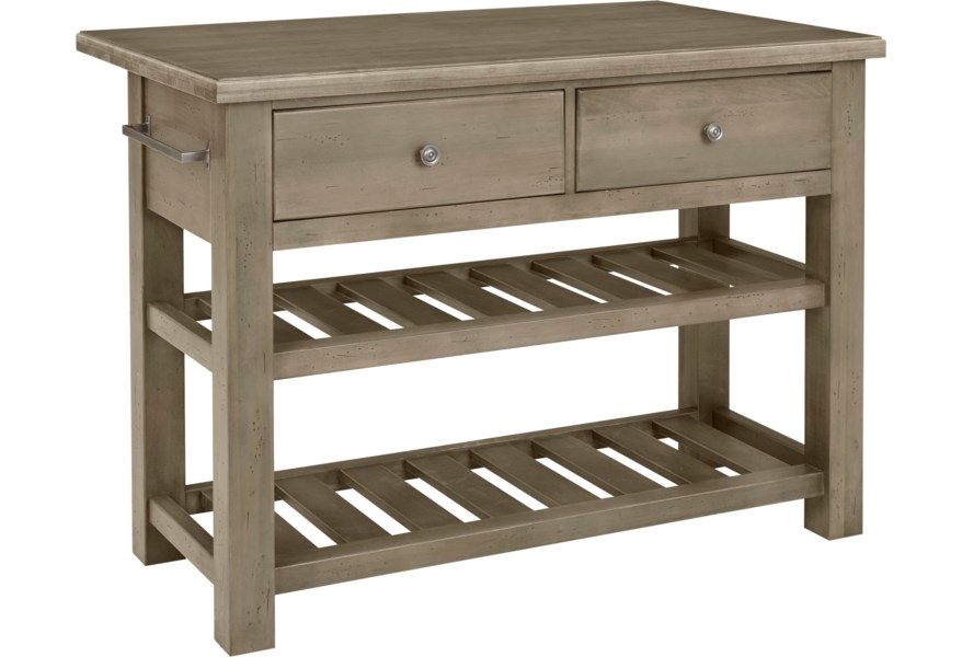 Simply Dining-Maple Casual Solid Wood Kitchen Island by Artisan & Post at  Dunk & Bright Furniture